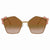 Fendi Metal Pink Stones Can Eye Sunglasses FF 0261/S 000/53 57