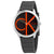 Calvin Klein Minimal Black Dial Mens Rubber Watch K3M211T3