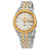 Seiko Silver Dial Mens Two Tone Watch SNKL24