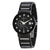 Bulova Mens Diamond Accented Black Dial Black Ion-plated Watch 98D109