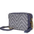 Michael Kors Ginny Medium Woven Leather Crossbody- ADMIRAL/OPWT