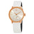 Calvin Klein Accent Silver Dial White Leather Ladies Watch K2Y236K6