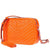 Tory Burch Fleming Chevron Camera Bag- Orange Juice