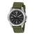Seiko Black Dial Green Nylon Solar Quartz Mens  Watch SNE095P2