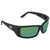 Costa Del Mar Permit Green Mirror Polarized Plastic Rectangular Sunglasses PT 11 OGMP