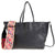 Valentino Guitar Rockstud Medium Leather Tote- Black