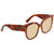 Gucci Yellow Square Ladies Sunglasses GG0059S 003 55