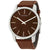 Calvin Klein City Brown Dial Brown Leather Mens Watch K2G211GK
