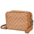 Michael Kors Ginny Medium Woven Leather Crossbody- Acorn/Butternut