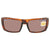 Costa Del Mar Rafael Copper Silver Mirror Polarized Plastic Rectangular Sunglasses RFL 66 OSCP