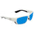 Costa Del Mar Tuna Alley Large Fit Blue Mirror Glass Rectangular Sunglasses TA 25 OBMGLP
