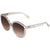 Chloe Brown Grey Gradient Round Sunglasses CE738S 035 57