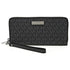 Michael Kors Jet Set Travel Logo Continental Wallet- Black