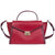 Michael Kors Whitney Large Leather Satchel-Red