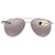 Costa Del Mar Cook Copper Silver Mirror 580P Polarized Aviator Unisex Sunglasses COO 21 OSCP