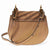 Chloe Small Drew Bijou Suede and Leather Shoulder Bag- Nut