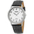 Seiko Quartz White Dial Black Leather Mens Watch SUP863P1