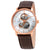 Rado Coupole Classic Open Heart Automatic Silver Dial Mens Brown Leather Watch R22895025