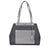 Michael Kors Meredith Medium Logo and Leather Tote- Black Combo