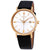 Bulova Classic White Dial Black Leather Mens Watch 97B172