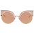 Fendi Eyeshine Pink Flash Cat Eye Ladies Sunglasses FF 0177/S Z5D530J