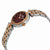 Charmex Crystal Brown Dial Ladies Two Tone Watch 6412