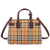 Burberry Small Banner Leather Tote- Deep Claret