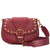 Marc Jacobs Studded Navigator Shoulder Bag- Cabernet Red