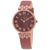 Anne Klein Roman Numeral Red Dial Ladies Watch 2619BYBN