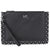 Michael Kors Medium Scallop Leather Zip Pouch- Black