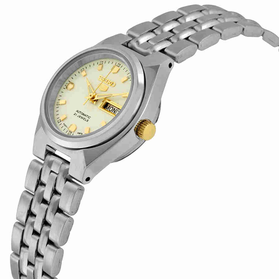 Seiko 5 Automatic White Dial Stainless Steel Ladies Watch Symk41 Watchsavings Com