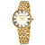 Anne Klein White Dial Ladies Gold-tone Watch 3322WTGB