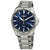 Seiko Essentials Blue Dial Stainless Steel Mens Watch SNE483
