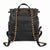 Tory Burch Fleming Leather Backpack- Black