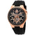 Bulova Classic Automatic Black Dial Black Silicone Mens Watch 98A177