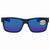 Costa Del Mar Half Moon Blue Mirror Polarized Plastic Rectangular Sunglasses HFM 193 OBMP