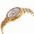 Bulova Crystal Silver Dial Yellow Gold-tone Mens Watch 98C126