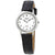 Seiko White Dial Black Leather Ladies Watch SUP369P1