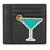 Tory Burch Martini Applique Square Card Case - Black