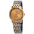 Omega De Ville Champagne Diamond Dial Ladies Steel and 18K Yellow Gold Watch 424.25.27.60.58.001