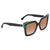 Fendi Brown Gradient Square Sunglasses with Turquoise Studs FF 0260/S 3H2/53 52