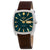 Seiko ReCraft Automatic Green Dial Brown Leather Mens Watch SNKP27