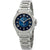 Bulova Marine Star Midnight Blue Mother of Pearl Diamond Dial Ladies Watch 96R215