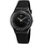 Swatch Darksparkles Black Dial Black Silicone Ladies Watch SUOB156