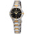 Seiko Core Black Dial Two-tone Ladies Watch SUT316