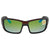 Costa Del Mar Permit Green Mirror Polarized Plastic Rectangular Sunglasses PT 10 OGMP