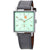 Nomos Tetra Kleene Turqouise Dial Grey Leather Ladies Watch 492