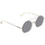 Fendi Eyeline Silver Mirror Round Ladies Sunglasses FF 0291/S 010/DC 48
