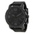 Fossil Nate Chronograph Black Dial Black Ion-plated Mens Watch JR1354