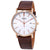 Bulova Dress Series White Dial Brown Leather Mens Watch 98H51